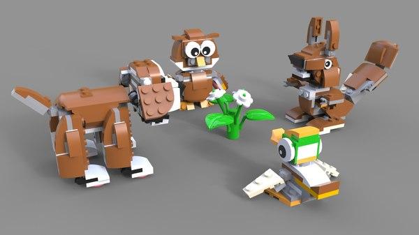 lego pack animals 3D model