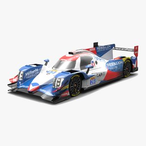 vaillante rebellion lmp2 wec 3D model