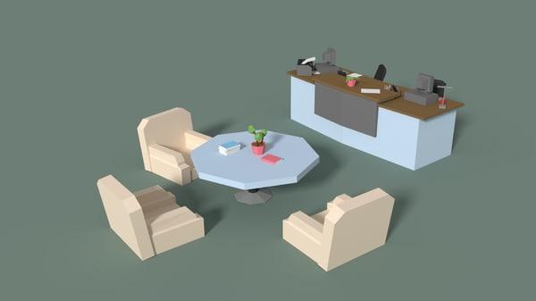 3D reception office