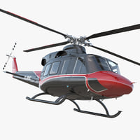 3D offshore helicopter bell 412ep