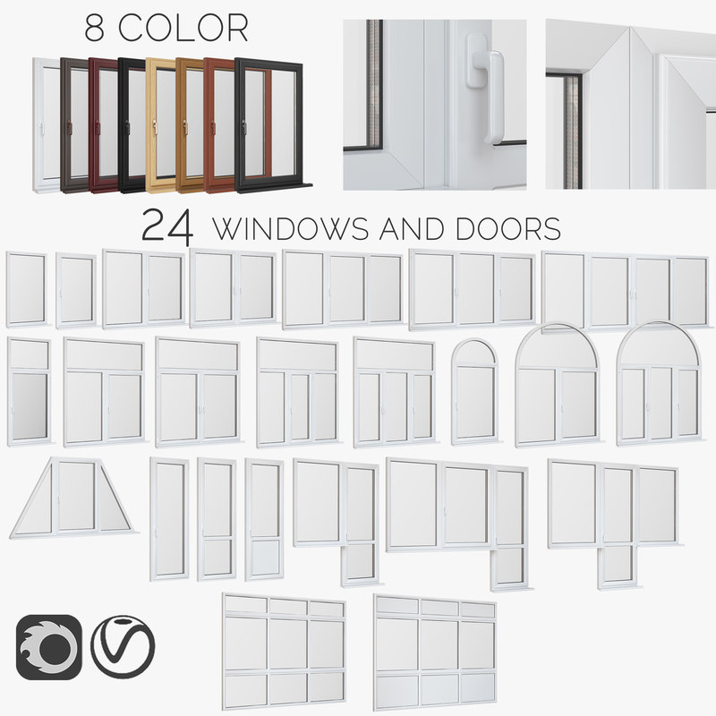 windows doors fiberglass model