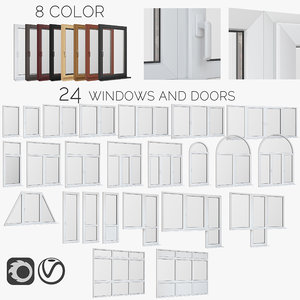 windows doors fiberglass model