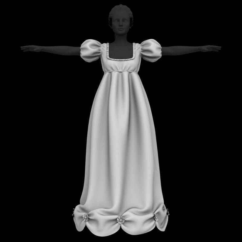 night dress 3D model