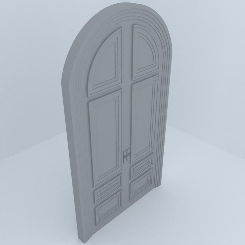 building architecture door 3D model