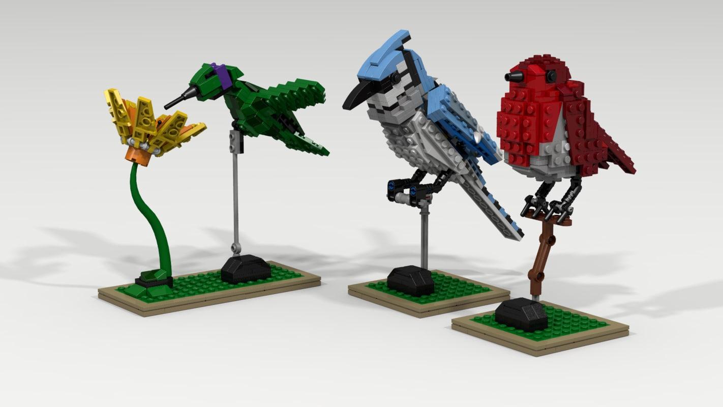 3D lego pack bird model