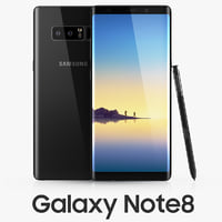 3D samsung galaxy note8 midnight