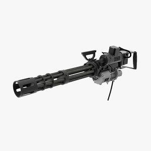 m134 minigun clean 3D