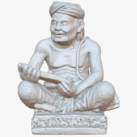 bali sculpture oldman raw 3D model