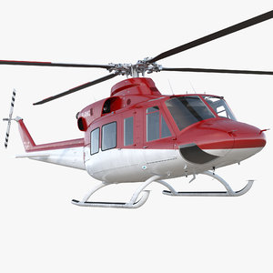 bell 412 medical helicopter 3D