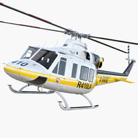 3D model bell 412 department helicopter