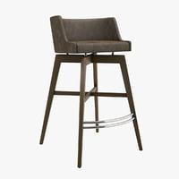 seven sedie art 3D model