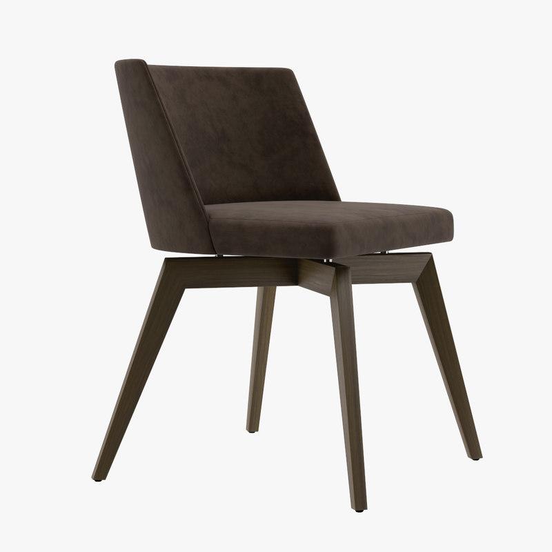 3D seven sedie art model