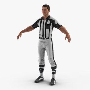 3D american football referee
