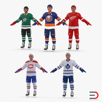hockey players 3D model