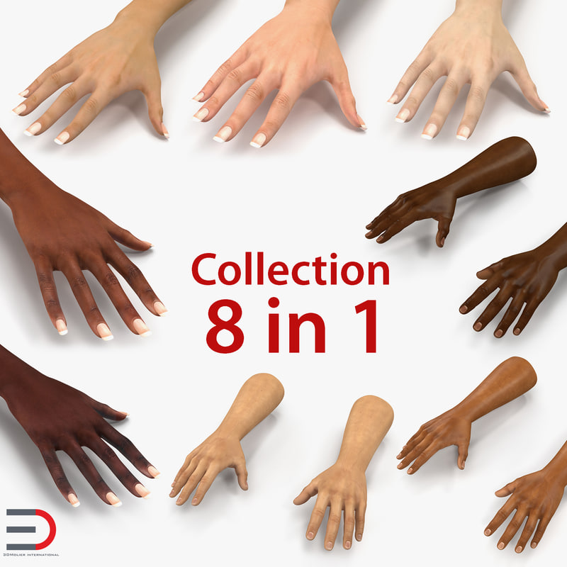 3D hands female african