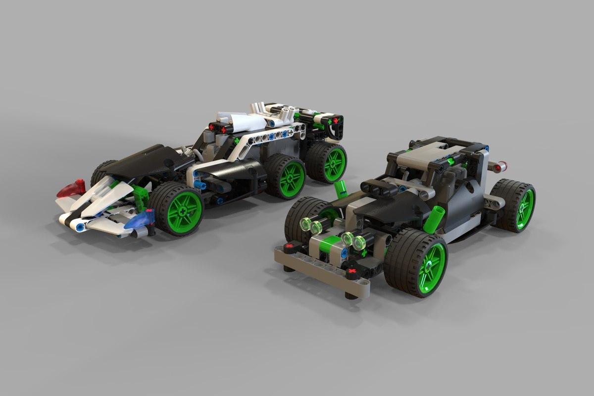 3D lego car racing