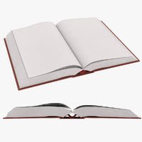 3D model book blank