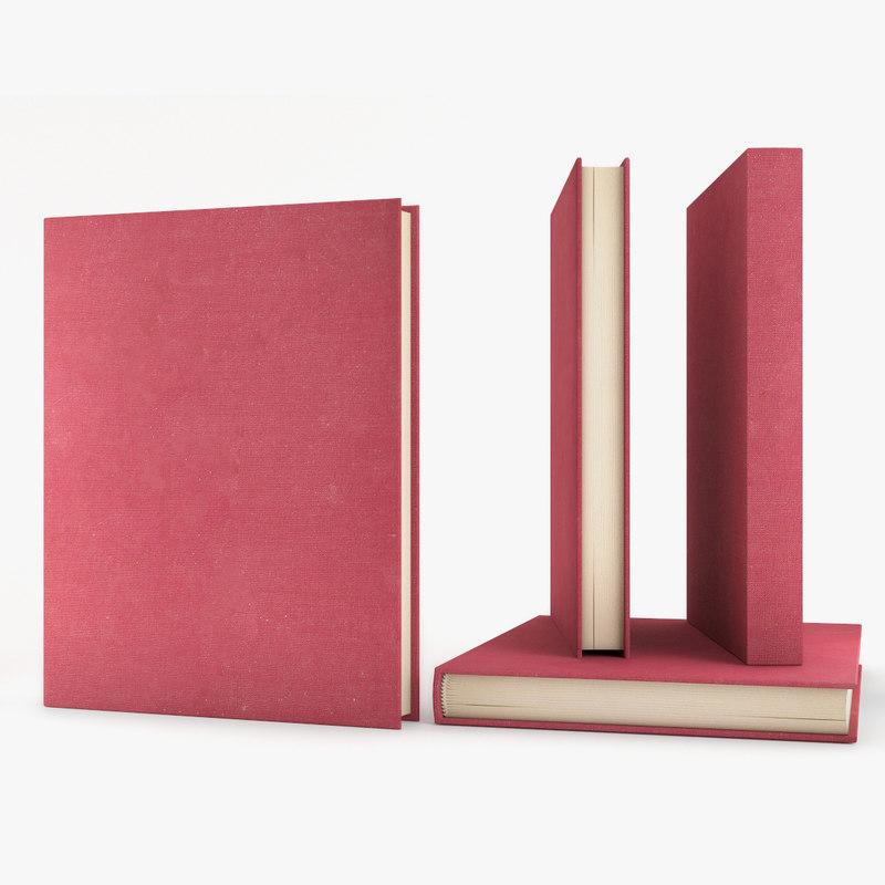 3D model hardcover book