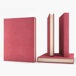 3D model hardcover book
