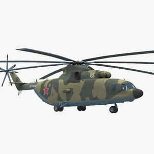 mi-26 helicopter halo 3D model