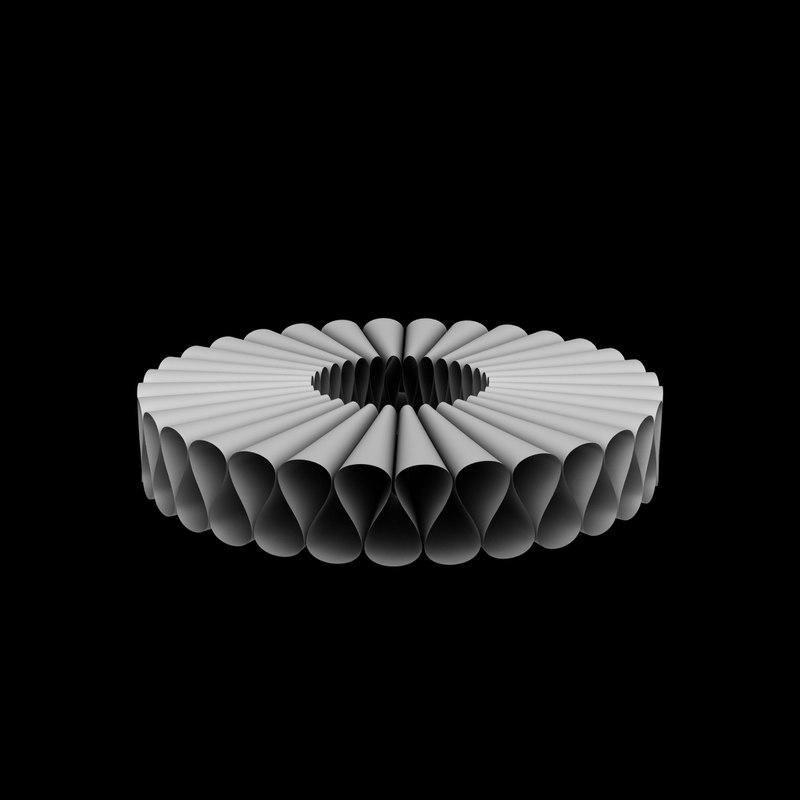 3D model elizabethan collar