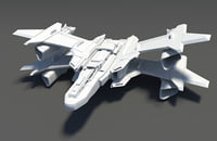 spacecraft aircraft 3D model