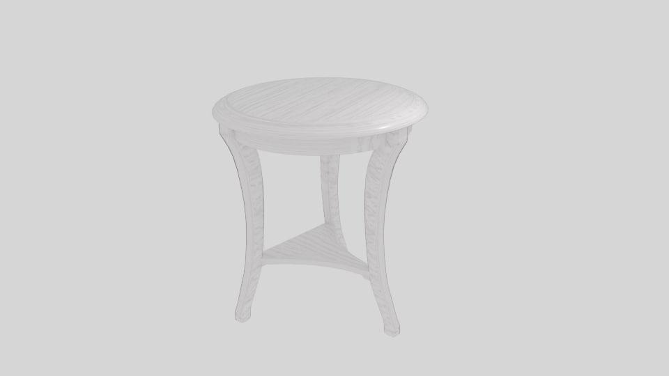 3D model tavolino legno classico table