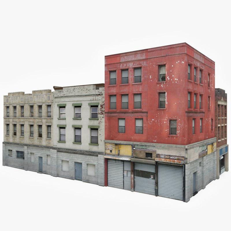 Apartment Block: Ready Apartment Building Block 3D Model