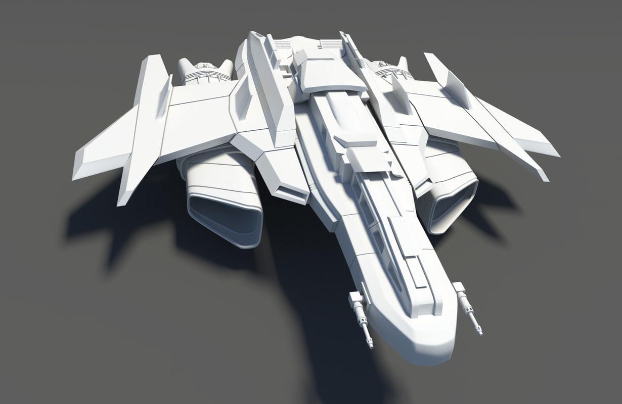 Spaceship Spacecraft Jet