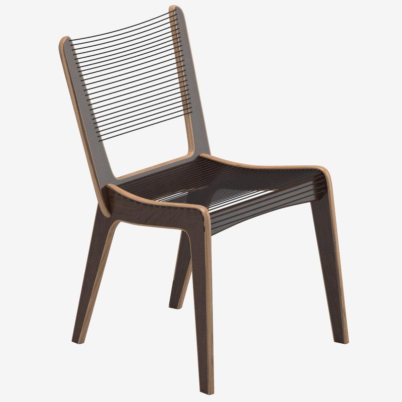 3D jacques guillion dining chair