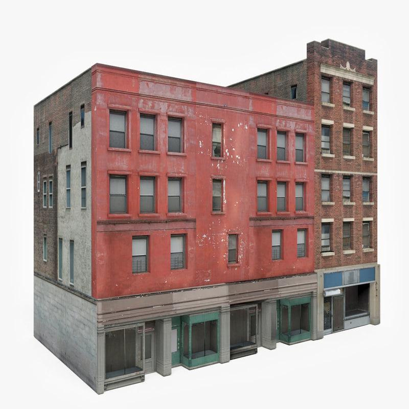 3D ready apartment building block