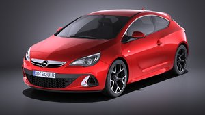 3D opel astra opc