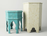 3D moroccan tables