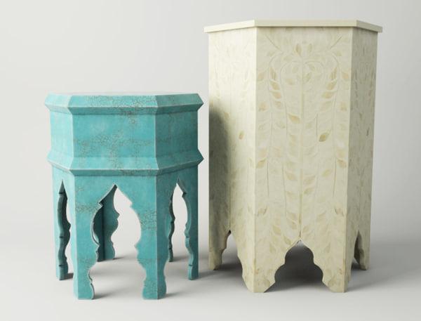 3D moroccan tables