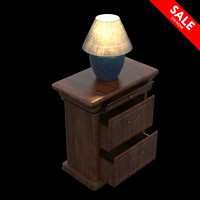 3D nightstand lamp model