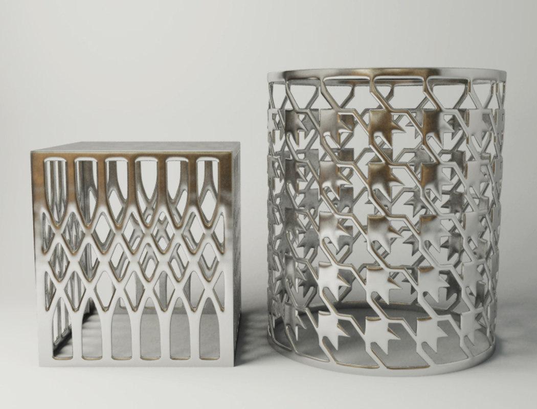 steel stool table model