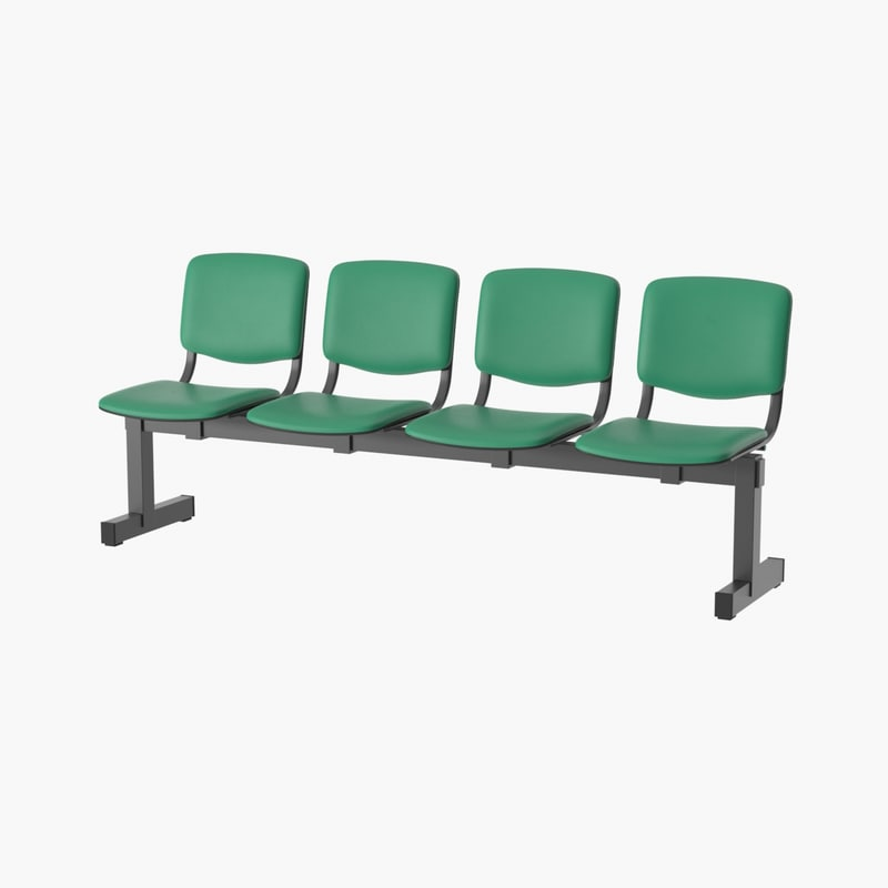 3D realistic waiting bench model