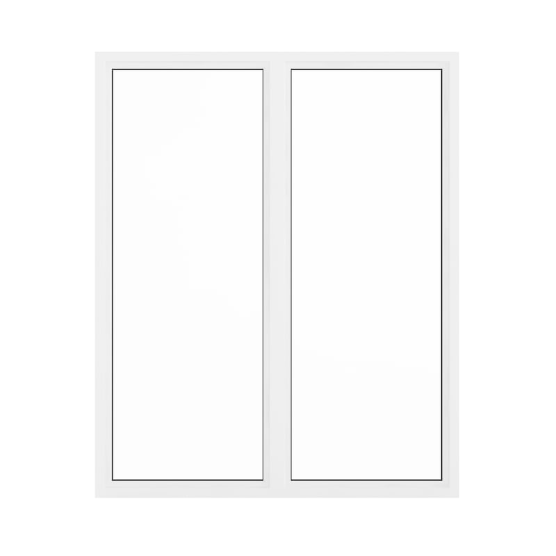 3D white window 209 5