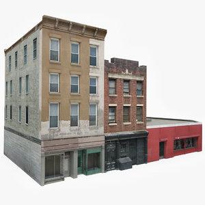 3D ready apartment building block model