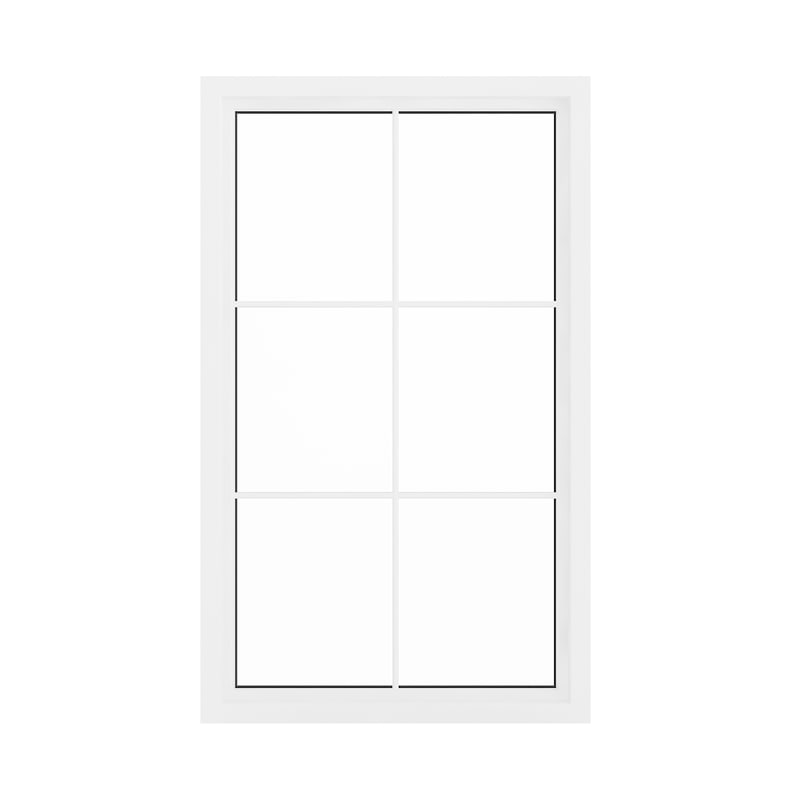 3D white window 143 5