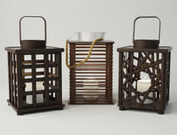 wooden lanterns 3D