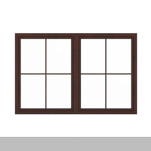 wooden window 113 5 3D model