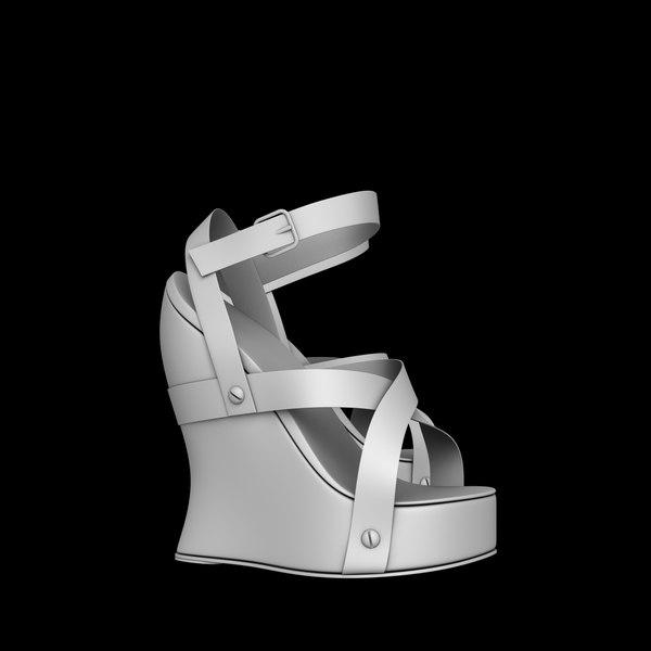 3D sandals 1