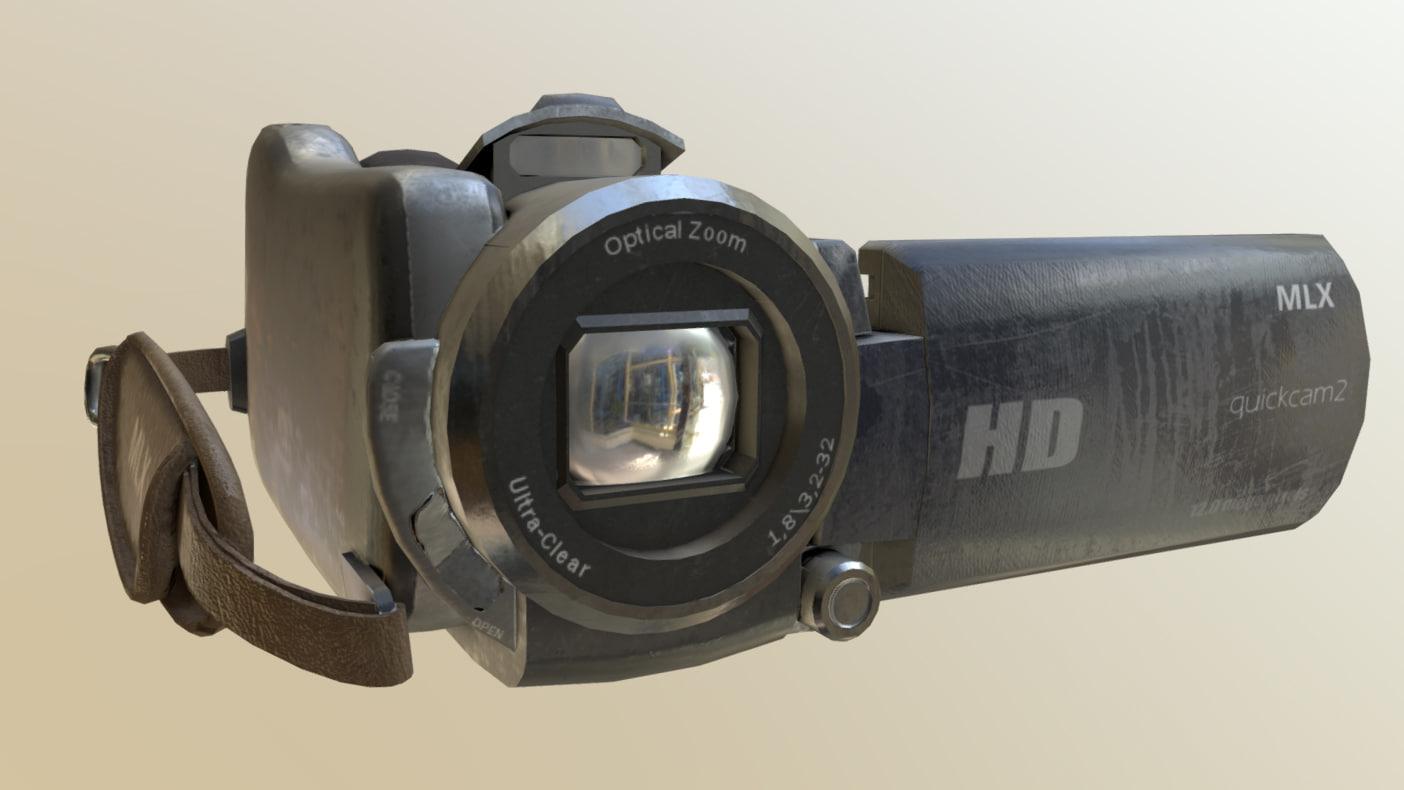 horror camera 3D model