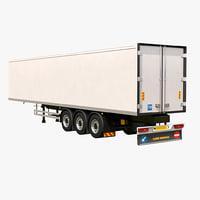 3D refrigerator trailer model