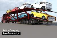 truck carrying 3D