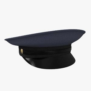 3D police hat model