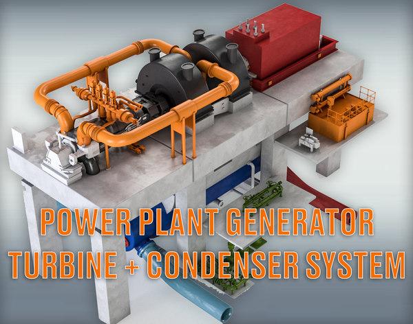 power plant turbine generator model
