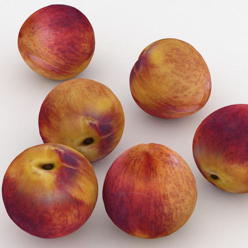 nectarine fruit 3D model