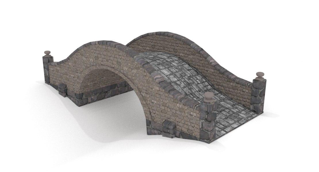bridge medieval 3D model
